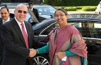 Global Forum on Responsible Business Conduct: Dipu Moni and Angel Gurría arrival